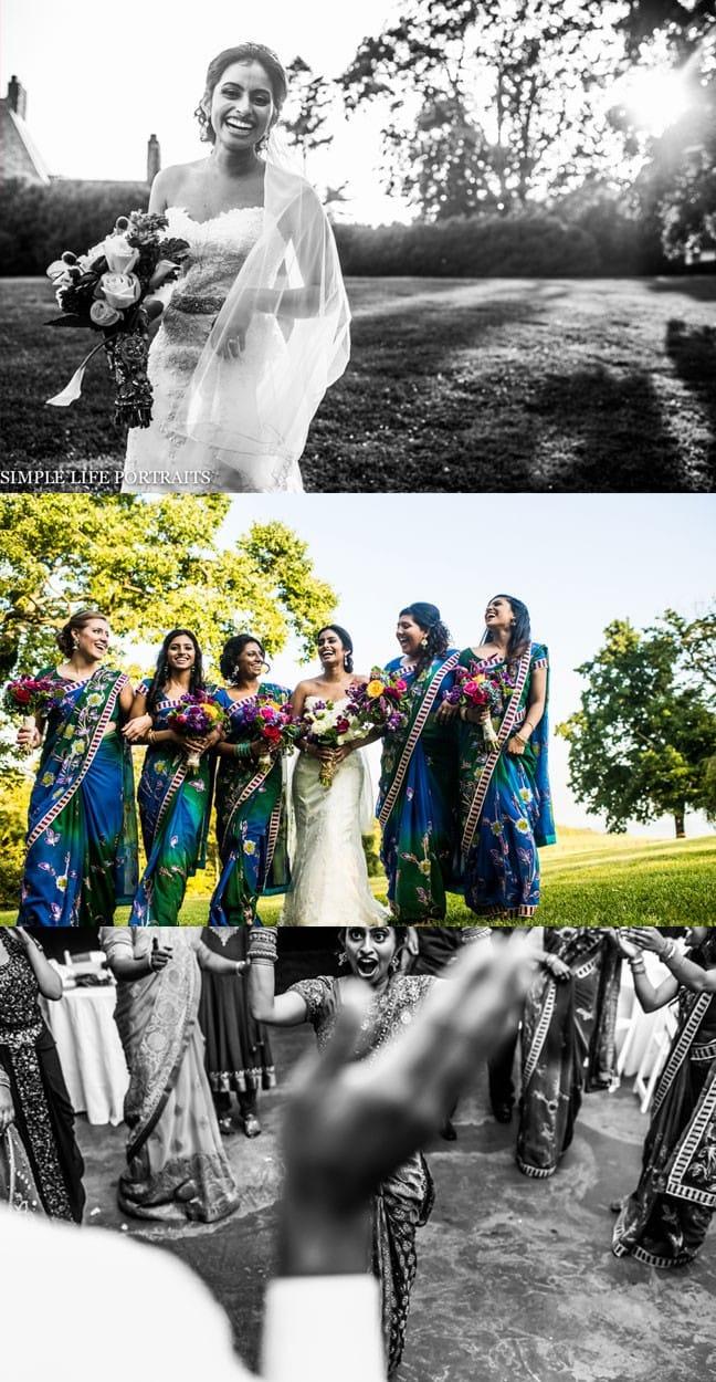 Maggie bride, Diana, in our Emma wedding dress.