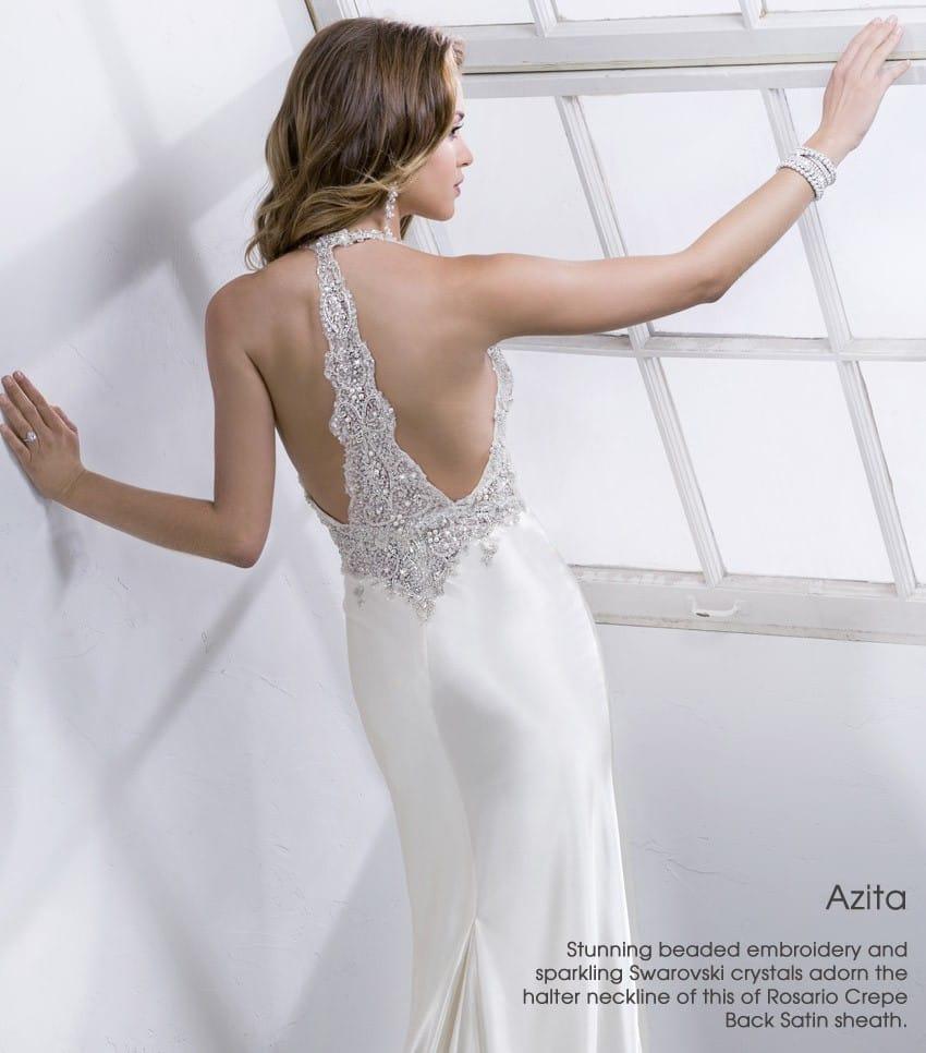 wedding dress trend dramatic back Sottero and Midgley - Azita