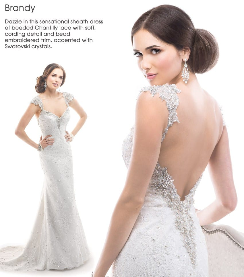 wedding dress trend dramatic back Maggie Sottero - Brandy