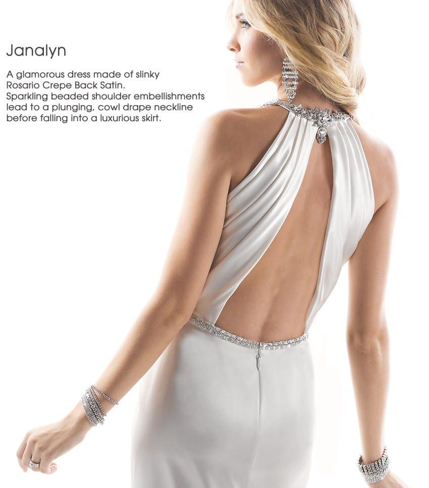 wedding dress trend dramatic back Maggie Sottero - Janalyn