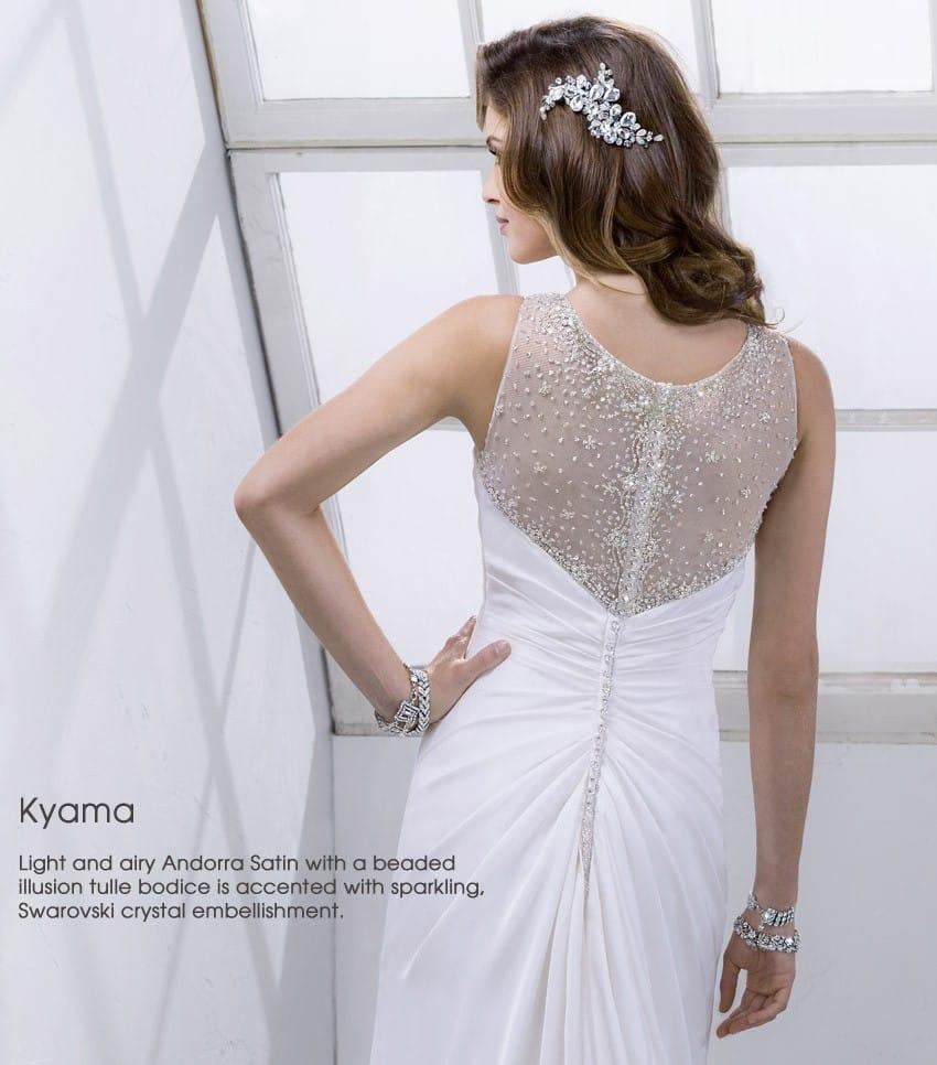wedding dress trend dramatic back Sottero and Midgley - Kyama