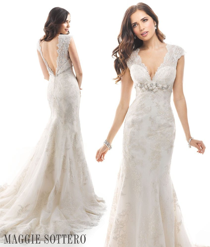 Friday Favorite lace A-line wedding dress Winona