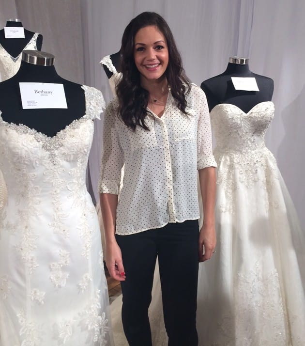 Desiree Hartsock interviews with Brides Magazine at Bridal Fashion Week about her upcoming wedding dress collection with Maggie Sottero.