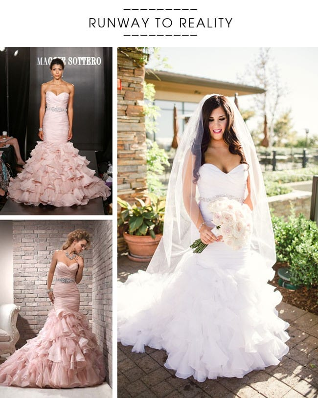 Maggie Sottero's Divina fit-and-flare wedding dress
