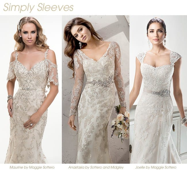One of our favorite Fall 2014 wedding trends? The sleeved wedding dress! See more on Love, Maggie!