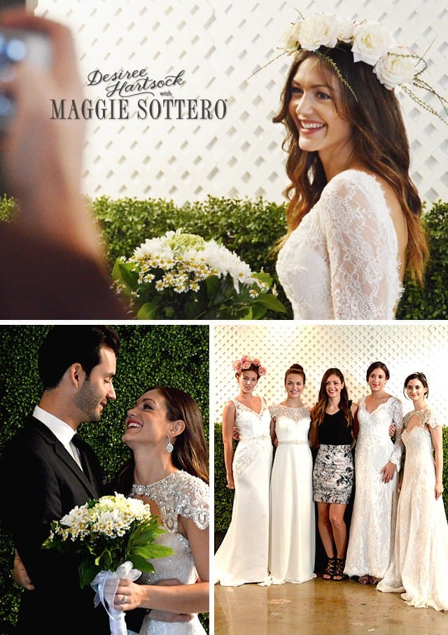 Desiree Hartsock with Maggie Sottero debuts in Hollywood!