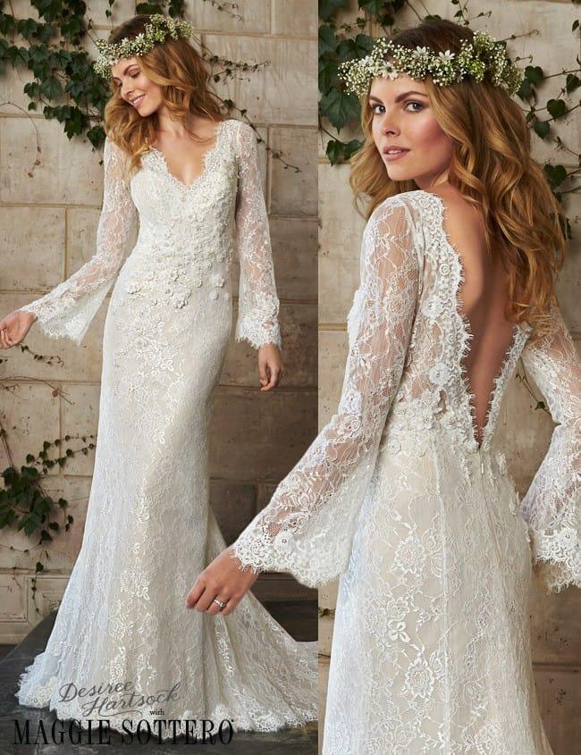 Friday Favorite Bohemian Wedding Dress Dahlia
