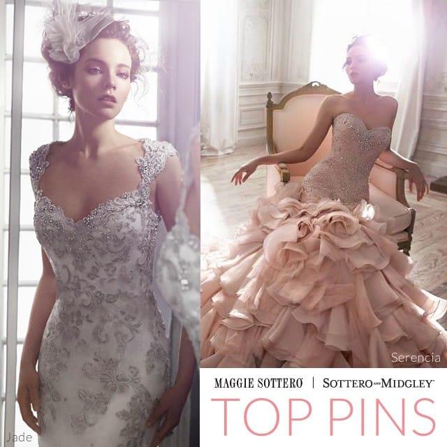 Gorgeous Swarovski crystal wedding dresses by Maggie Sottero.