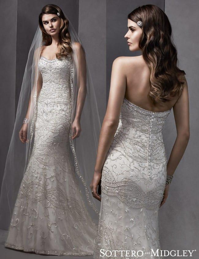 Swarovski crystal embellished wedding dress, Yolanda from Sottero and Midgley.