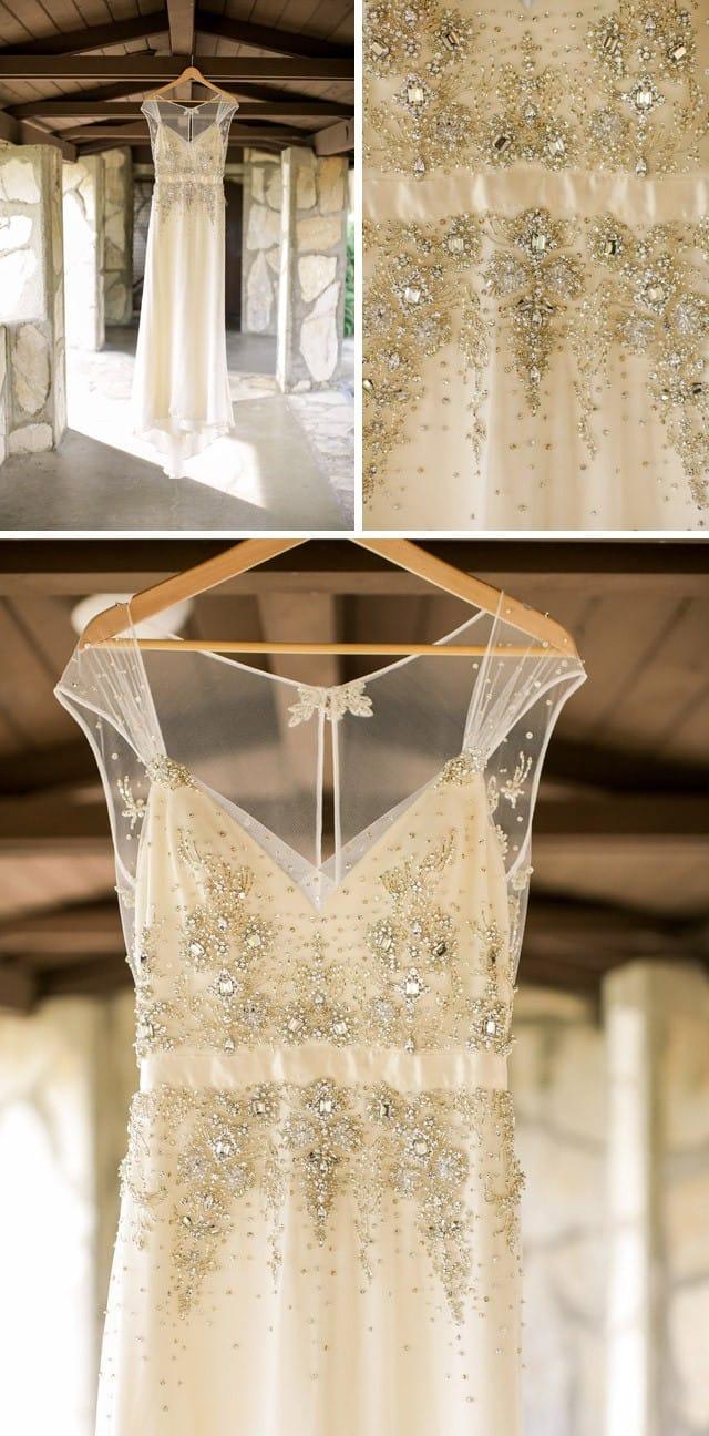 Maggie Bride, Desiree Hartsock, wearing Swarovski crystal reception dress Zarina by Maggie Sottero