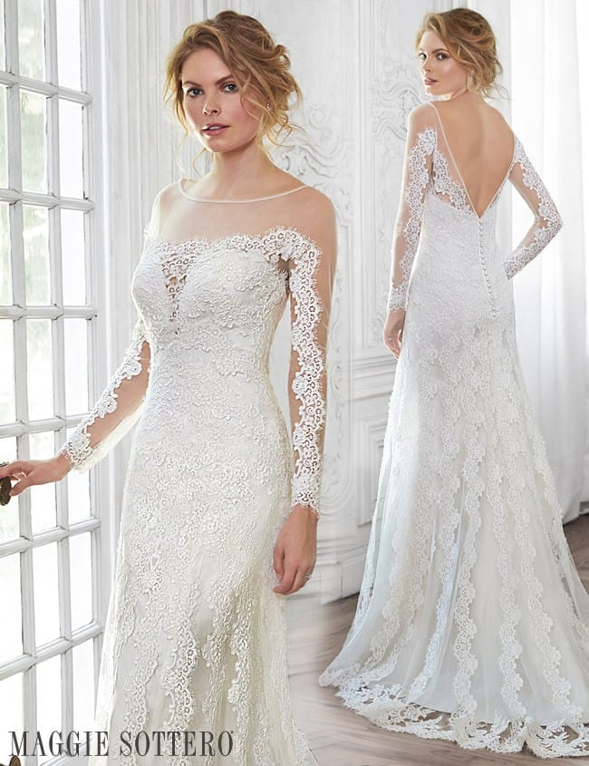 Friday Favorite Long Sleeve Tattoo Lace Wedding Dress Love Maggie