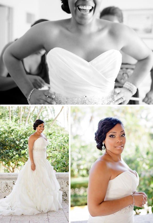 Beautiful Maggie Bride wearing Fantasia in a Florida beach wedding