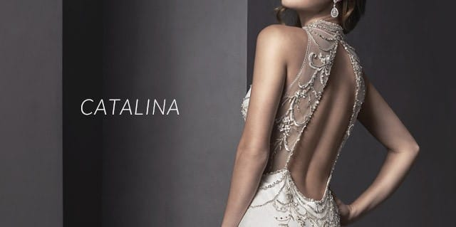 Catalina by Sottero and Midgley, with a breathtaking detailed back.