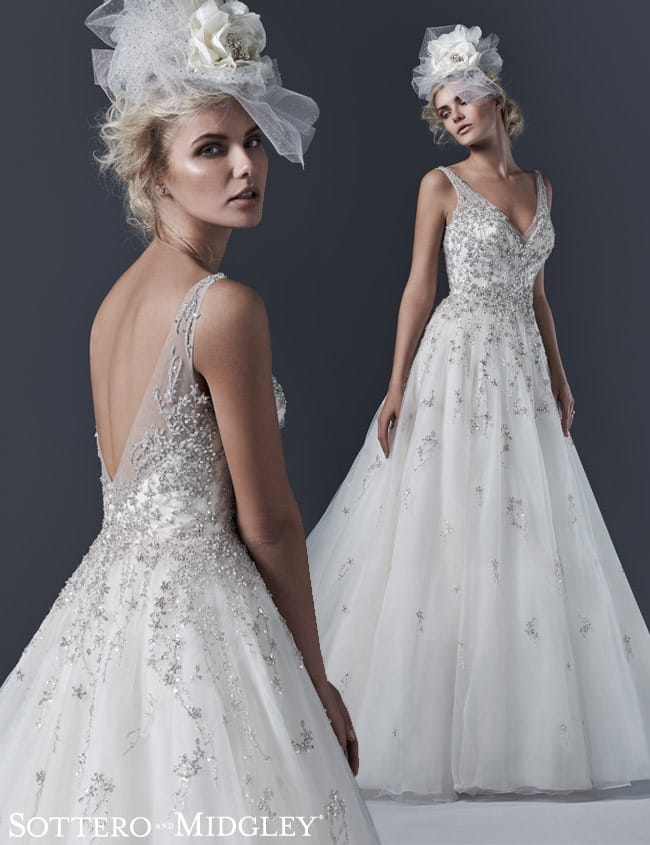 Glamorous ball gown, Abrianna, by Sottero and Midgley.