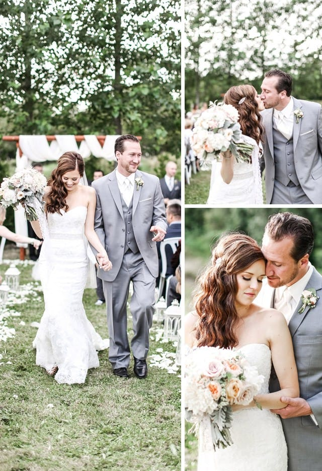 Real Bride, Laura, wearing the Chesney wedding dress by Maggie Sottero