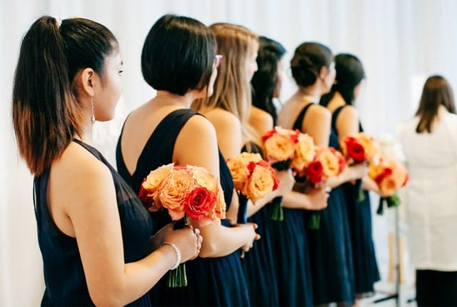 choosing your maid of honor - Maggie Bride Carly wearing Maggie Sottero