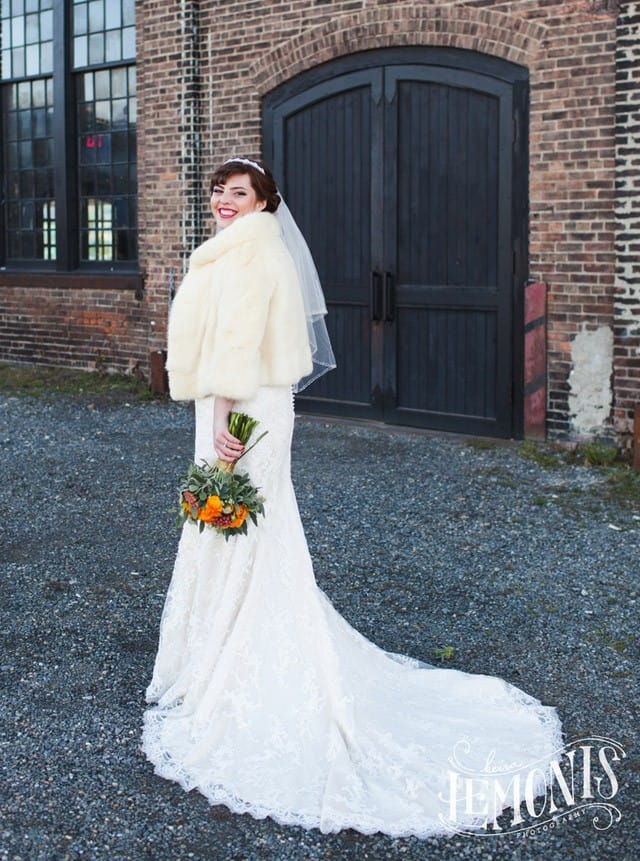 Maggie Bride, Lauren, wearing Chesney by Maggie Sottero