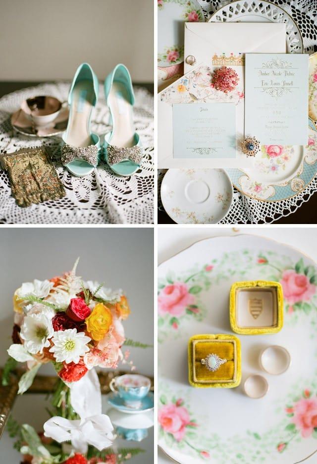 Maggie Bride Amanda's whimsical outdoor wedding.