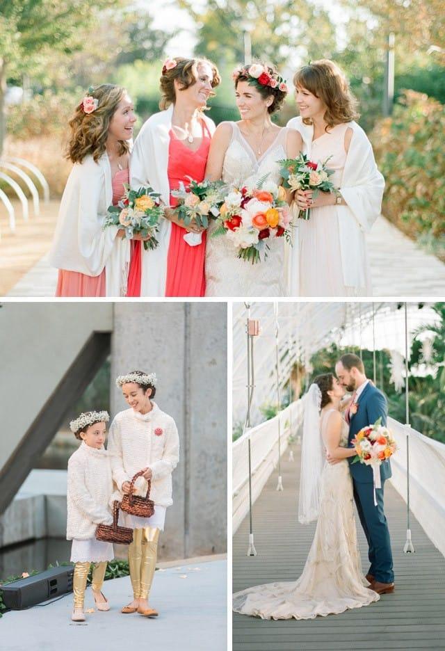 Maggie Bride Amber wearing gold wedding dress, Gianna