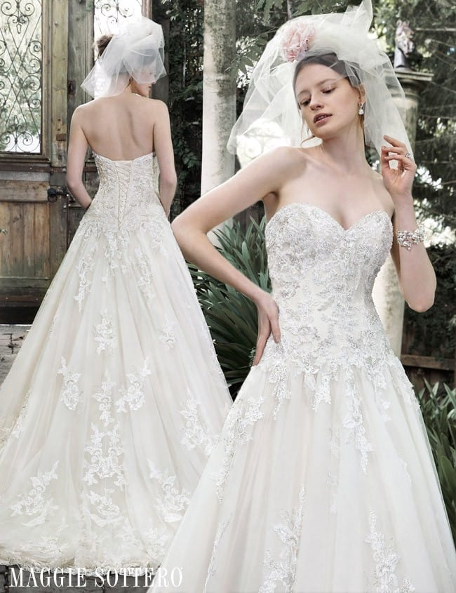 Dallasandra, a beautiful embellished lace ball gown from Maggie Sottero