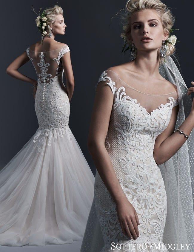 Lightweight lace wedding dress, Cassandra by Sottero and Midgley