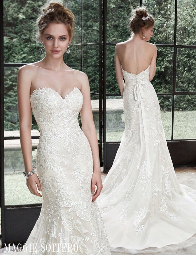 Lightweight lace wedding dresses are perfect for dancing the night away...Winstyn wedding dress by Maggie Sottero