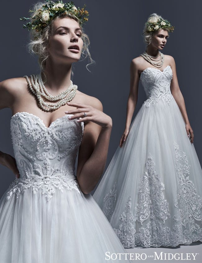 Dawnelle by Sottero and Midgley... Lace ball gown wedding dress.