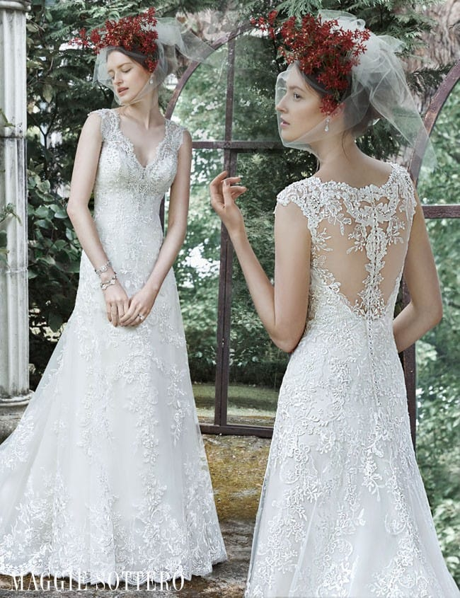 Katiya, an A-line wedding dress by Maggie Sottero