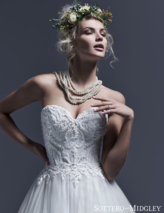 Dawnelle... See more dreamy ball gown wedding dresses by Sottero and Midgley.