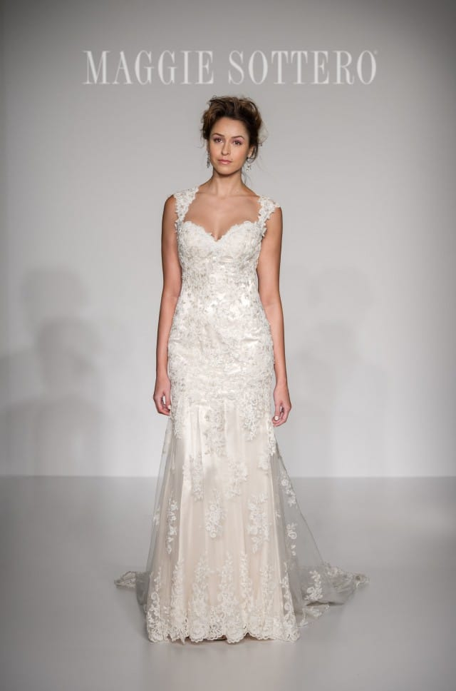 Collins by Maggie Sottero. See more lace A-line wedding gowns on Maggie Sottero.